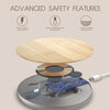 Wireless Charging Pad Wood & Metal Trim with Fast Charge Qi Technology