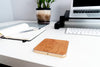 Wireless Charging Square Pad Wood & Metal Trim with Fast Charge Qi Technology