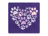 Absorbent Stone Coaster - Heart Paws