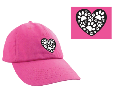Ball Cap - Heart with Paws
