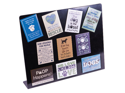 Rectangle Magnet Dog Designs Assortment w/ FREE SILVER Display!