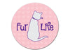 Absorbent Stone Auto Coaster - Fur Life (Cat)