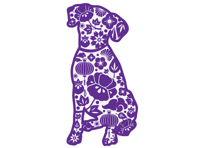 "Paisley Dog 3"" Decal"