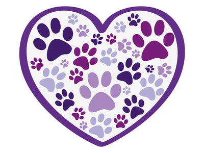 "Heart with Paws 3"" Decal"