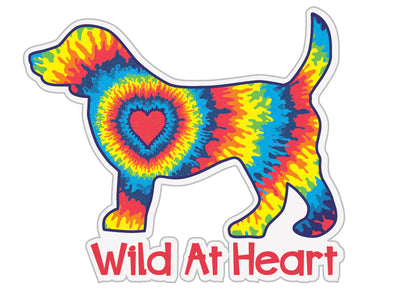 "Wild at Heart Dog 3"" Decal"