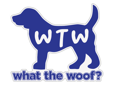 "WTW? What the Woof 3"" Decal"