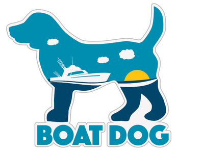 "Boat Dog 3"" Decal"