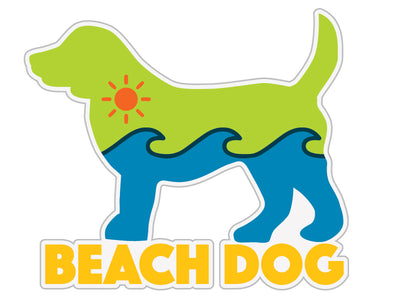 "Beach Dog 3"" Decal"
