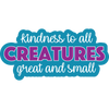 "Kindness to All Creatures Great and Small 3"" Decal"