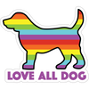 "Love All Dog 3"" Decal"