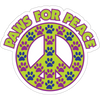 "Paws for Peace 3"" Decal"