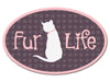 Oval Car Magnet - Fur Life (Cat)
