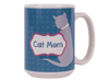 15oz BIG MUG - Cat Mom