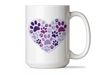 15oz BIG MUG - Heart Paw