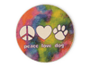 Absorbent Stone Car Coaster - Peace Love Dog