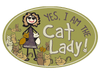 Flexible Oval Shaped Magnet - Yes, I am the CAT Lady!