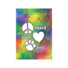Peace Love Dog Garden Flag