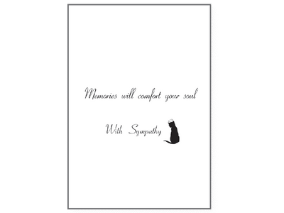 Sympathy Card Cat - Time Will Heal