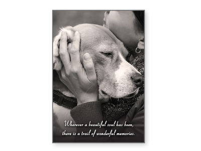 Sympathy Card - Wherever a Beautiful Soul Has Been