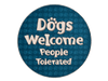 Absorbent Stone Car Coaster - Dogs Welcome, People Tolerated