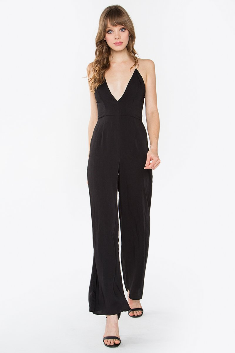 Plunge Forward Jumpsuit