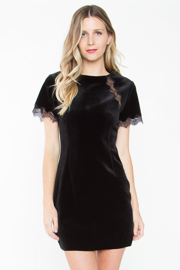 Didion Lace Velvet Dress