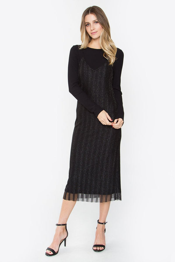 Janine Layered Midi Dress