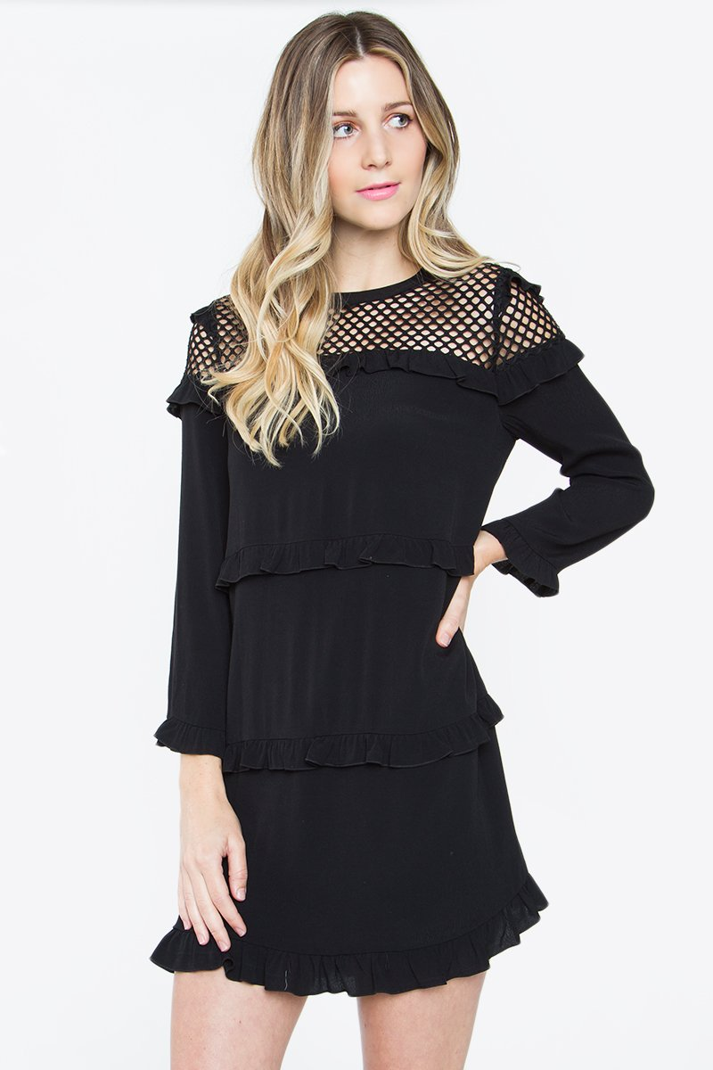 Kendrix Fishnet Shift Dress
