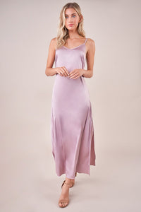 Dreaming Satin Maxi Slip Dress