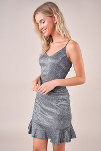 Galaxy Of Glam Metallic Mini Dress
