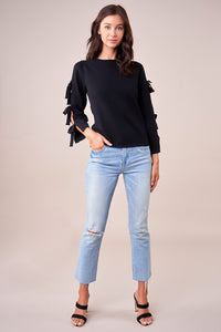 Kendie Tie Sleeve Sweater