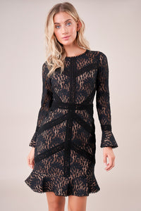 Adrena Open Back Lace Dress