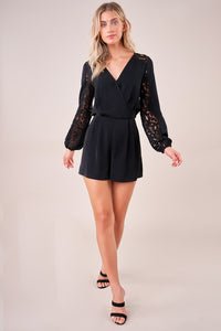 Benelux Mixed Lace Romper