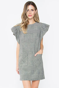 Charline Plaid Ruffle Dress