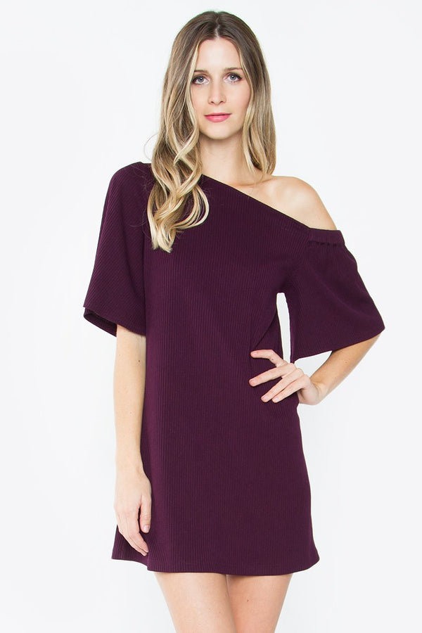 Bertie One Shoulder Knit Dress