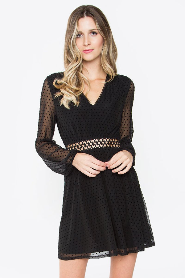 Renoir Polka Dot Mesh Dress