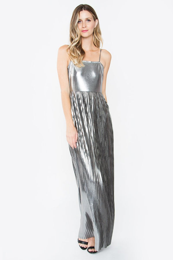Astra Pleated Maxi Dress