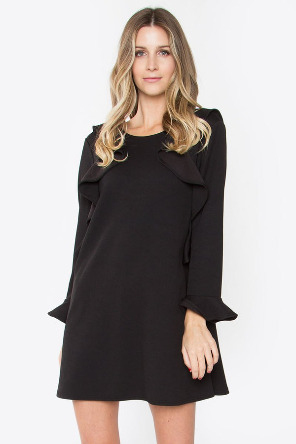 Casper Ruffle Knit Dress