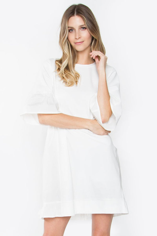Lukas Knit Poplin Dress