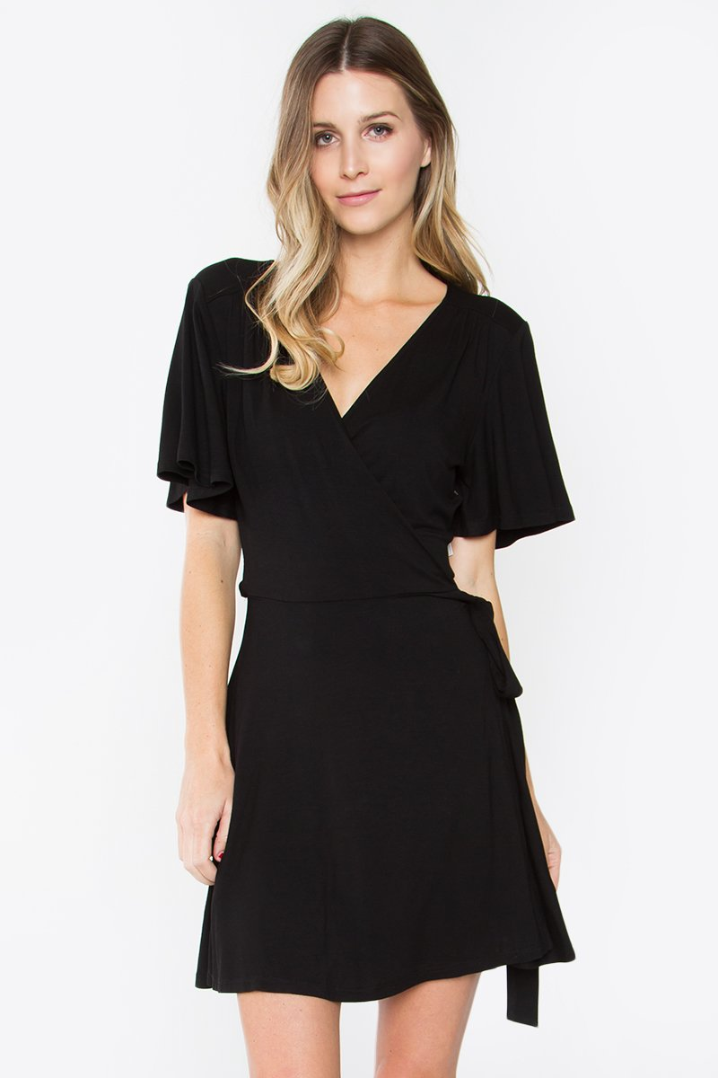 Mariam Wrap Mini Dress