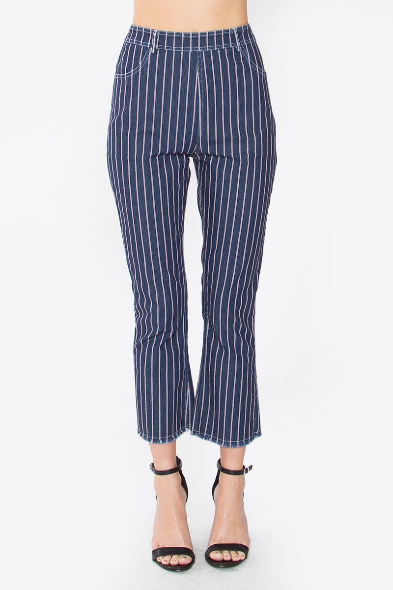 Vella Striped Denim Pants