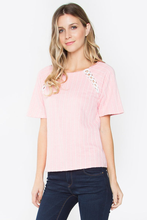 Corah Striped Knit Top
