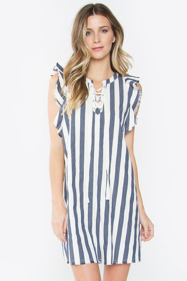 Mirabella Striped Shift Dress