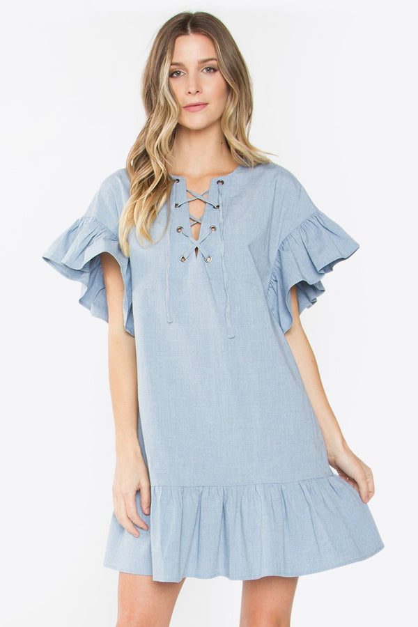 Astin Ruffle Shift Dress