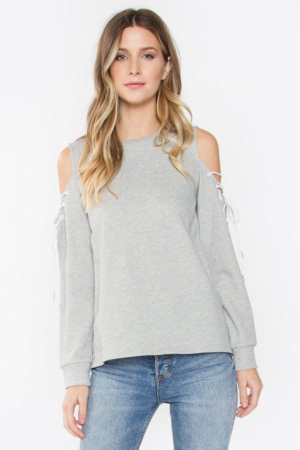 Aubree Lace Up Knit Top