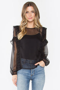 Farley Sheer Ruffle Top