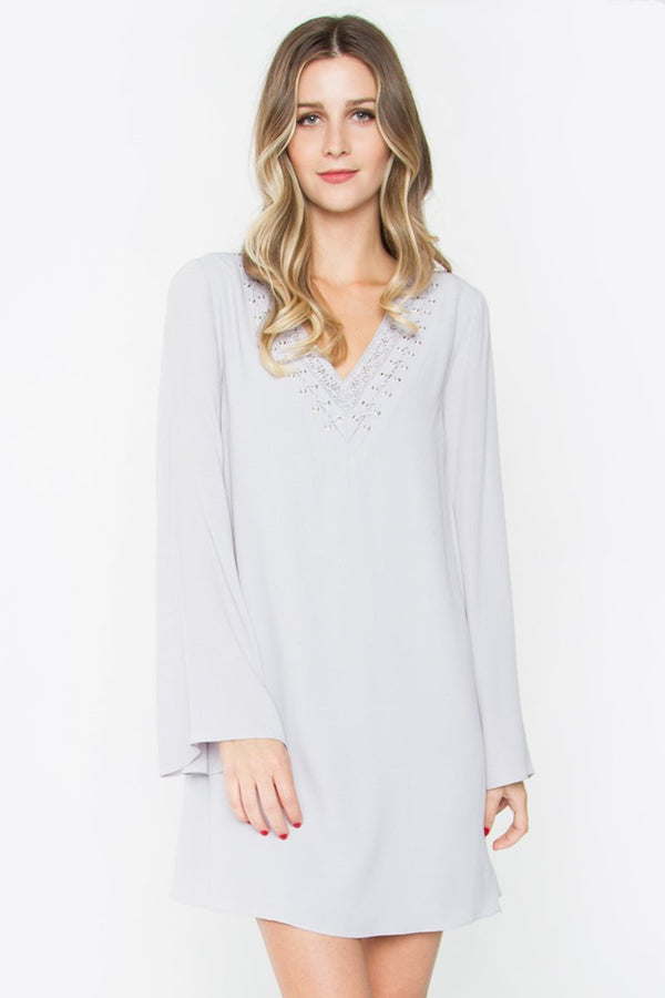 Eryn Bell Sleeve Shift Dress