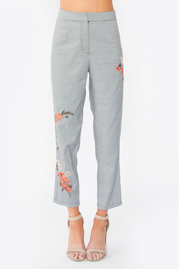 Cherri Floral Embroidered Pants