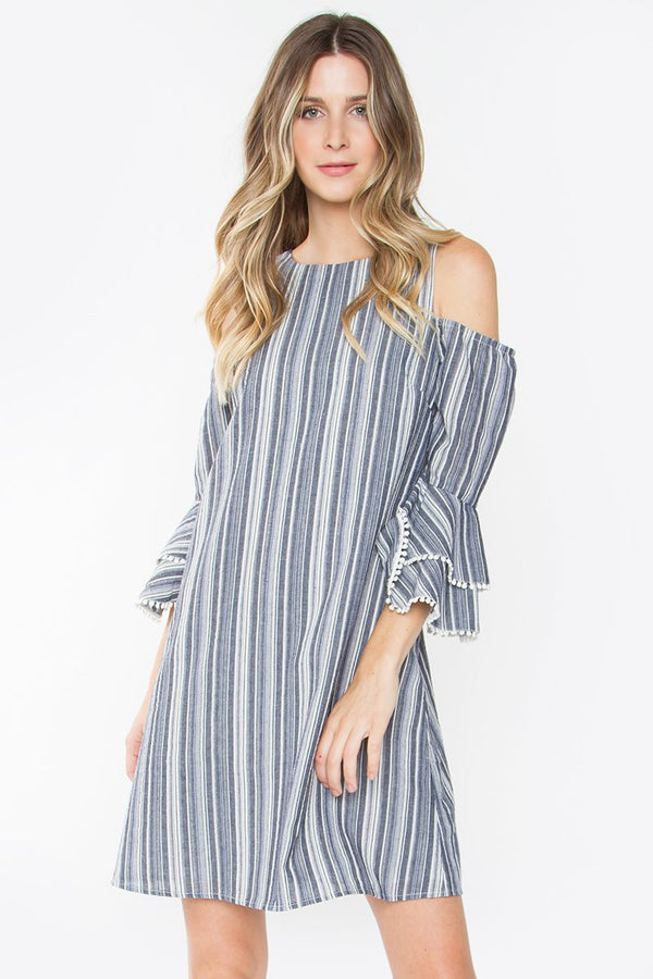 Lupine Cold Shoulder Dress