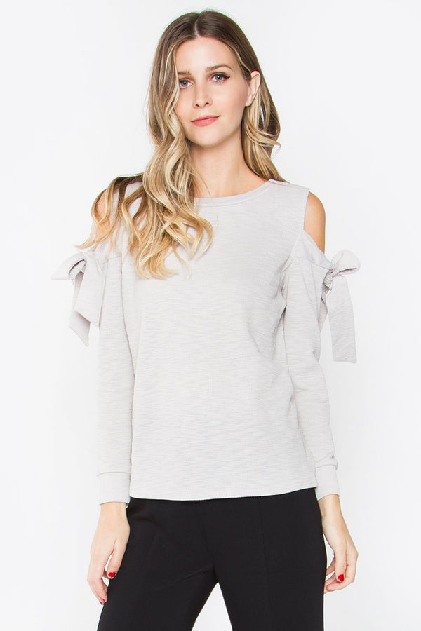 Sweet Grey Knit Top